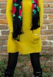 MY OUTFIT  Rochia de lână, galben-muștar