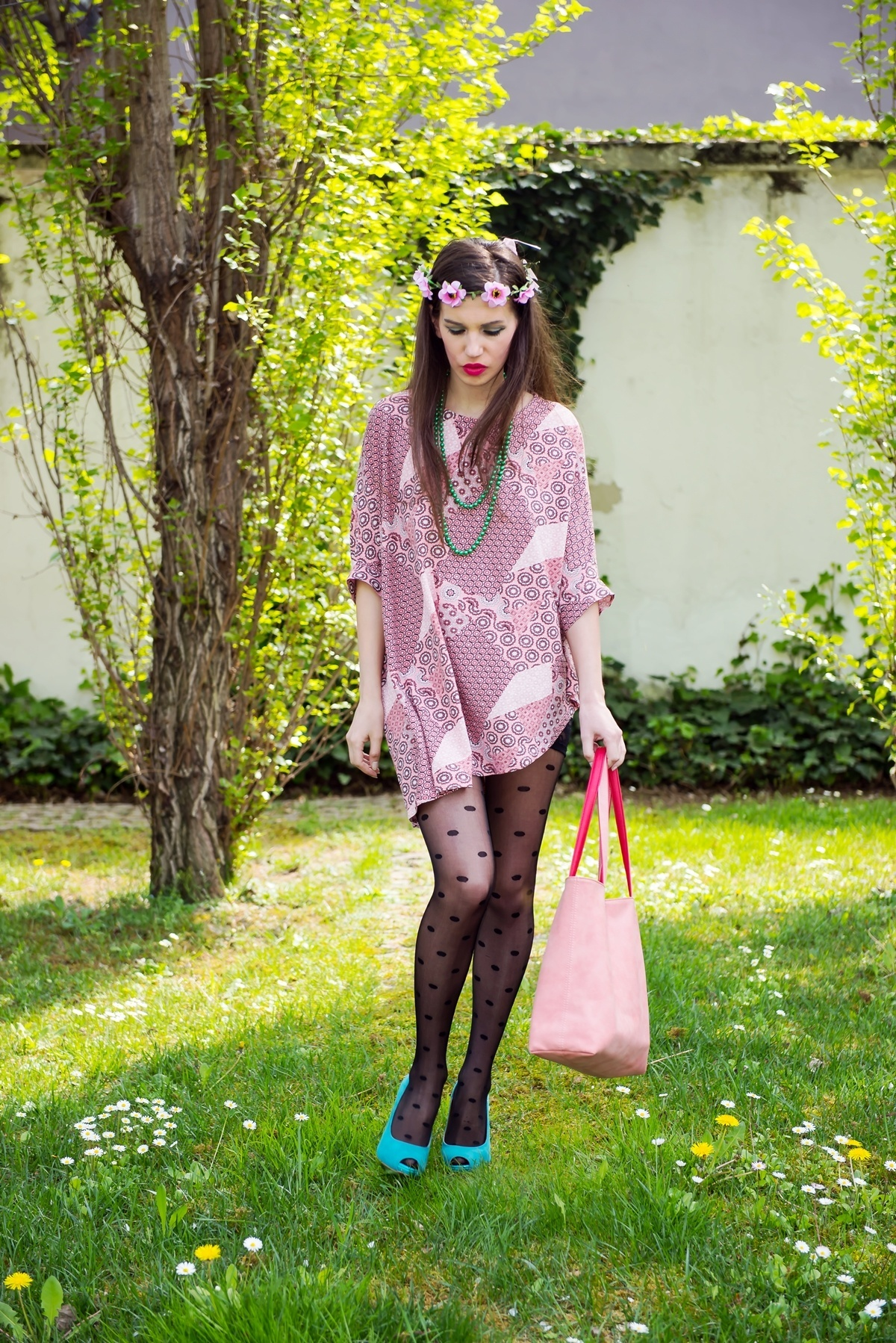 MY OUTFIT  Roz și verde, combinația mea dulce senzuală
