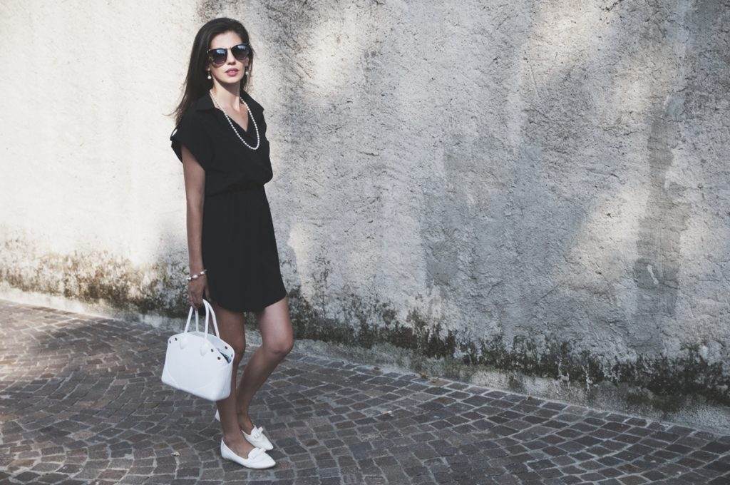 MY OUTFIT  Black and white, casual elegant style