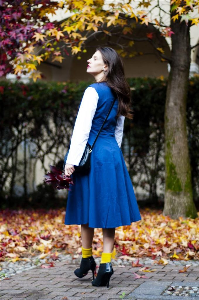 MY OUTFIT  Blue vintage dress