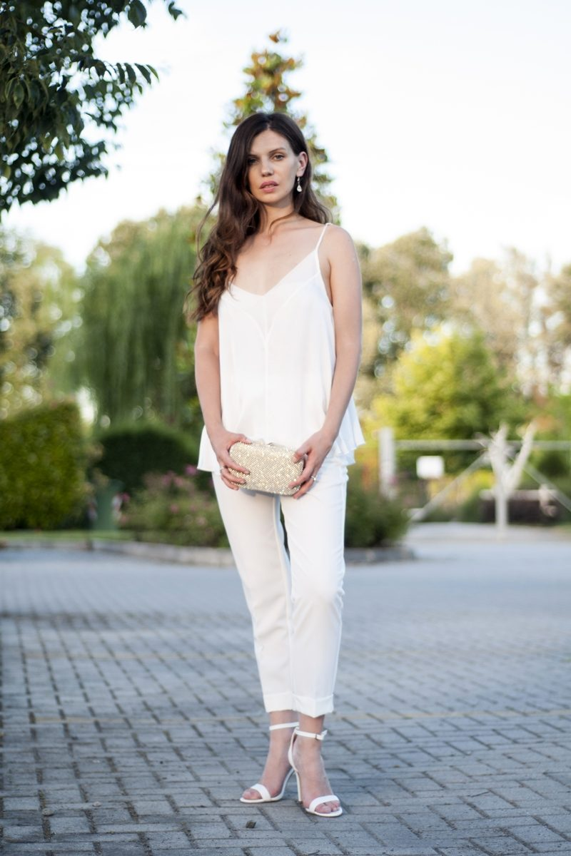 MY OUTFIT  TOTAL WHITE: Vă plac pantalonii albi?
