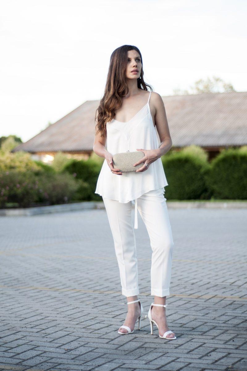MY OUTFIT  TOTAL WHITE: Vă plac pantalonii albi?
